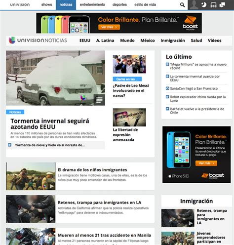 univision noticas redesigns website newscaststudio