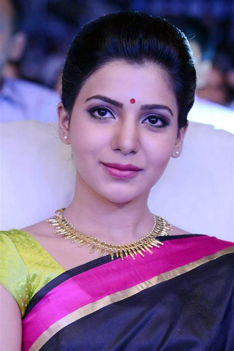 heroine samantha saree photos samantha new look photos at tollywood tv channel launch