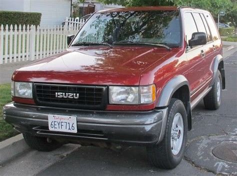 buy used 1995 isuzu trooper s sport utility 4 door 3 2l 5spd manual in redwood city california