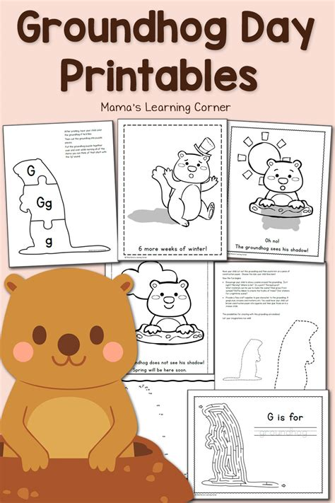 groundhog day free free groundhog day printables mamas learning corner
