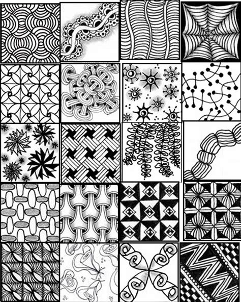 design pattern quick reference zentangles patterns free printables printable sheets