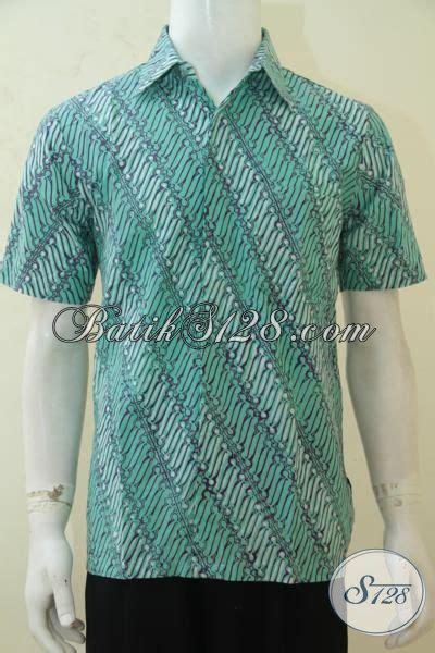 Hem Kemeja Batik Pekalongan Lengan Pendek Primis Cap Pria 89 kemeja batik parang warna hijau batik hem klasik lengan pendek baju batik cap tulis asli