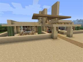 House Plans With Outdoor Living Modern Desert Home Minecraft Project