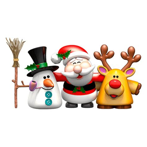 snowman and reindeer snowman santa claus and reindeer rudolph