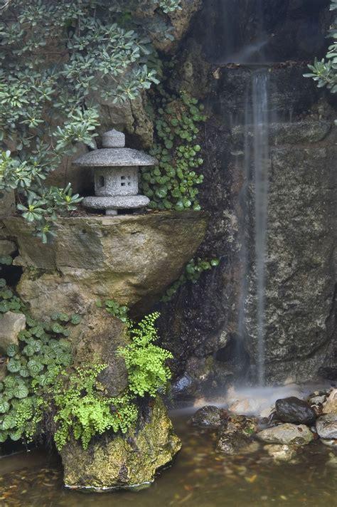 photo   waterfall  japanese garden  zilker