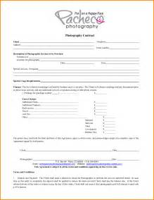 photography letterhead templates 10 photography contract template letterhead template sle