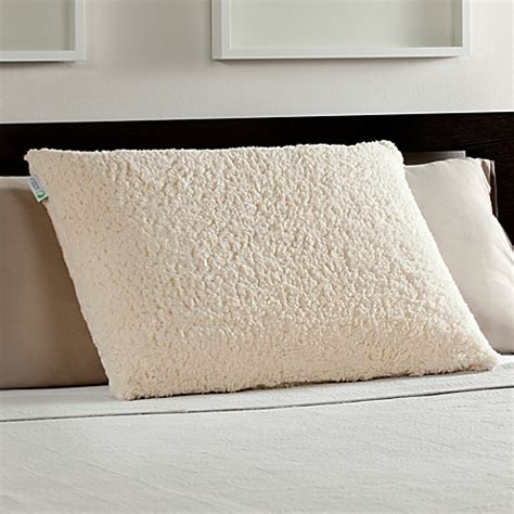bed bath and beyond memory foam pillow standard queen memory foam luxury bed pillow with sherpa