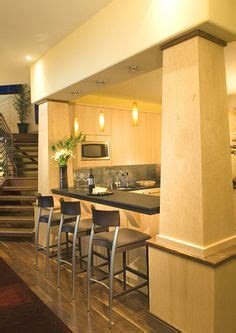 kitchen bar right at bottom of stairs basement renovation 1000 images about my better homes and gardens dream home