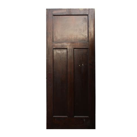 Solid Wood Doors For Sale by Antique Three Panel Solid Wood Door Stained Finish Nid27