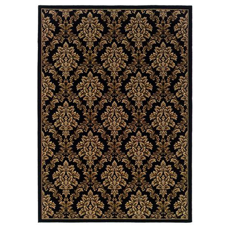 Natco Rugs by Natco Kurdamir Damask Black 5 Ft 3 In X 7 Ft 7 In Area