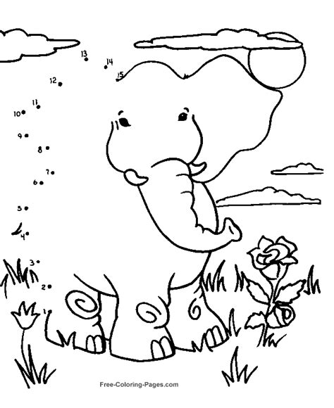 Coloring Pages Connect The Dots easy connect the dots coloring home