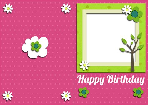 birthday photo card template free printable birthday cards ideas greeting card template