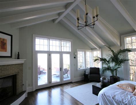 Vaulted Ceiling With Exposed Beams by In1