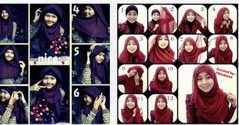 Jilbab Segi Empat Jodha Emas tutorial cara memakai trend model jilbab elzatta segi