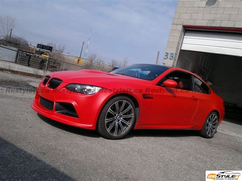 matte red bmw red devil matte red m3 vehicle customization shop