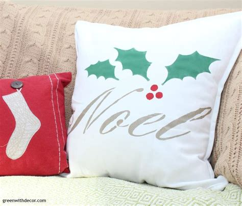 Pillow To Post Meaning by Green With Decor How To Stencil A Pillow For