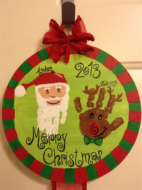 christmas hand print craft christmas pinterest hand