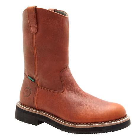 wellington steel toe boots s 12 quot waterproof pull on steel toe work boots