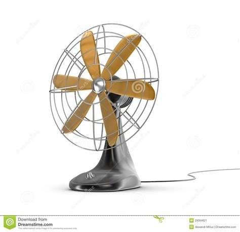 old fashioned electric fan old style electricity switch royalty free stock image