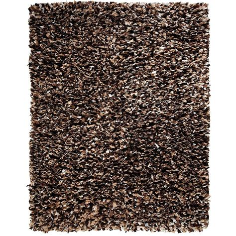 and brown rug anji mountain confetti brown and white 5 ft x 8 ft shag area rug amb0452 0058 the home depot