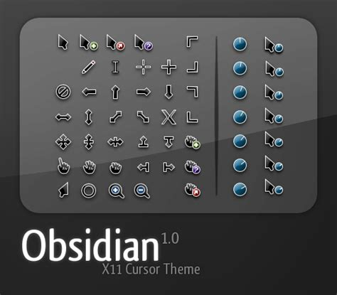 gnome mouse themes obsidian cursors www gnome look org