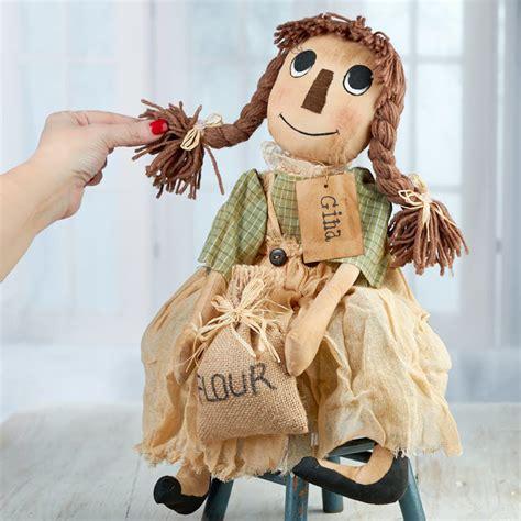 primitive gina muslin rag doll primitive dolls