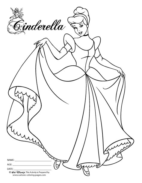 free coloring pages of anime cinderella