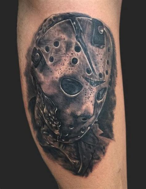 jason mask tattoo md studio jason voorhees friday the 13th