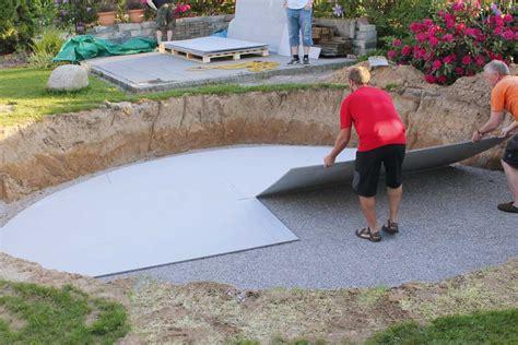 Pool Untergrund Platten by Freiluftplatten Trockenbau Im Garten 187 Livvi De