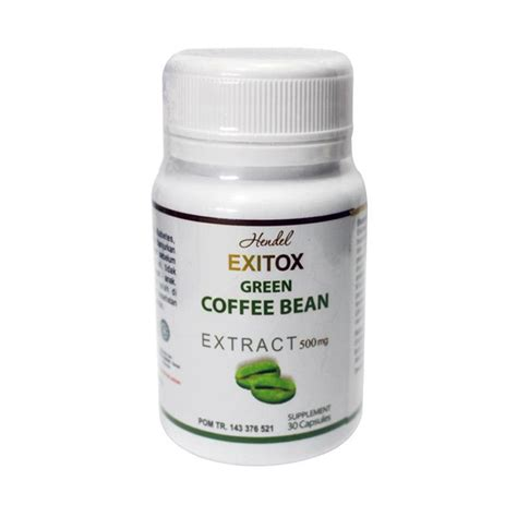 Harga Kapsul Slimming Detox jual green coffee bean exitox hendel pelangsing herbal