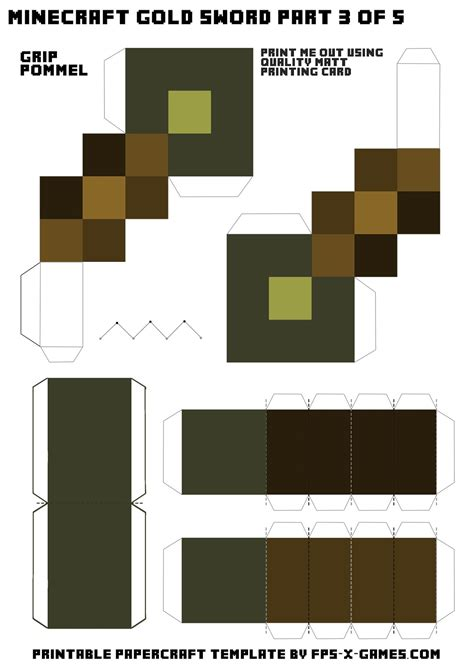 Papercraft Minecraft Templates - search results for papercraft size sword
