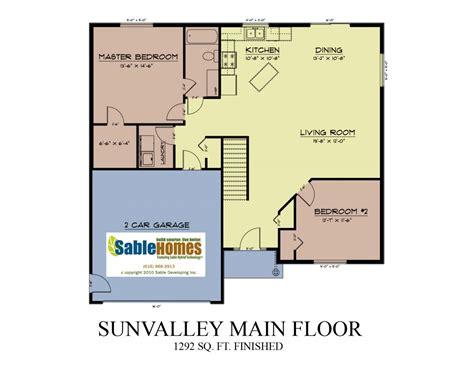 hidden valley sf floor plan by glen homes dakota glen in sun valley sable homes