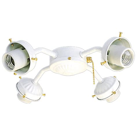 Harbor Ceiling Fan Replacement Glass by Shop Harbor 4 Light Textured White Ceiling Fan