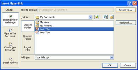 tutorial microsoft powerpoint 2007 insert a hyperlink between documents hyperlink 171 slides