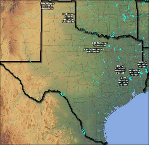 texas national forest map national forests and grasslands in texas texas national forests and grasslands