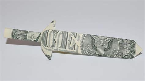 Dollar Bill Origami Sword - 1000 ideas about dollar origami on money