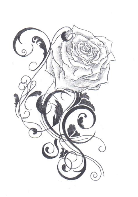 rose tattoo designs black and white gudu ngiseng sketch