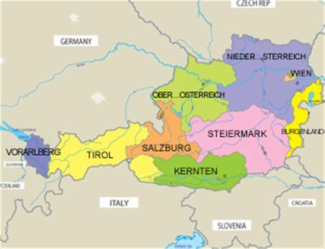 austria regions map political map of austria map of austria region geography