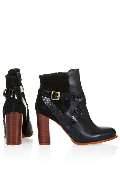 topshop aroma ankle boots in black lyst