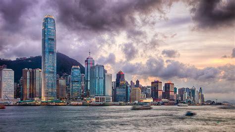 gold hong kong wallpaper victoria harbor 4k ultra hd wallpaper and background image