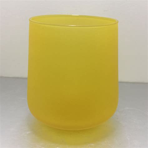 colored jars wholesale 398ml yellow wholesale tumbler glass colored candle jars