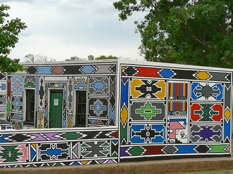house portrait artist light color sound ndebele