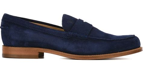 tods suede loafers tod s tods suede loafers in blue for save 60 lyst