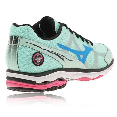 mizuno wave rider womens running shoes mizuno womens wave rider 17 green cushioned running sports