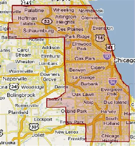 chicago county map cook county images