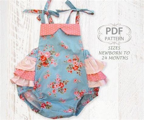 baby clothes pattern pdf baby sewing pattern for romper pdf sewing pattern for baby