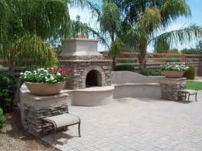 southwestern outdoor fireplace arizona landscaping poco