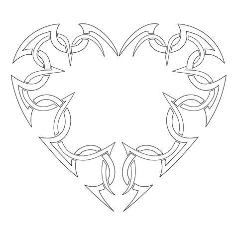heartbeat tattoo template free printable heart templates diy 100 ideas