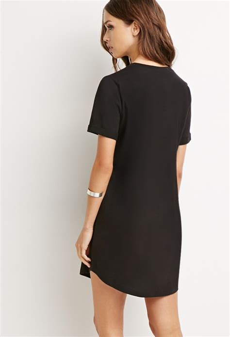 T Shirt 21 Black forever 21 classic t shirt dress in black lyst