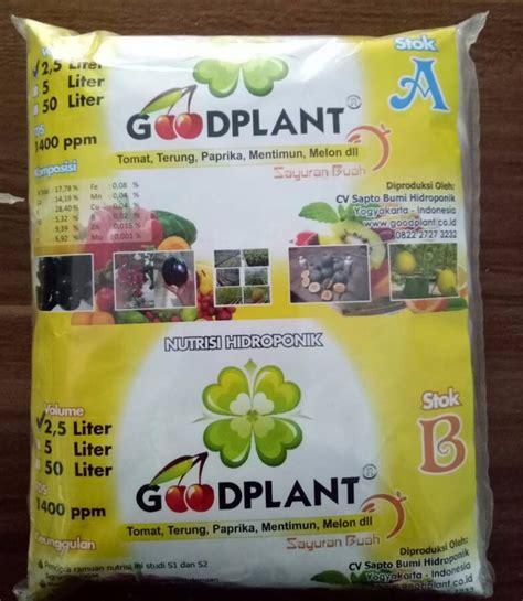 Nutrisi Hidroponik Goodplant goodplant nutrisi ab mix buah 2 5 liter bibitbunga